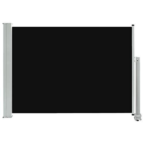 vidaXL Ausziehbare Seitenmarkise 80×300 cm Schwarz