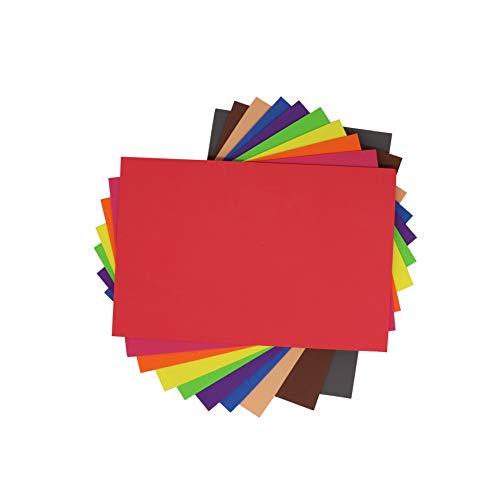 10 Hojas Goma Eva Lisas sin Adhesivo, A4 2mm para Decorar, Diseñar y Manualidades