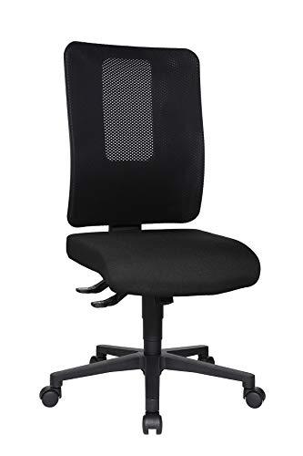 Topstar 617620 Profi Bürostuhl HJH Work Basic Stoff/Netz Schwarz Drehstuhl ohne Armlehnen, Rückenlehne höhenverstellbar