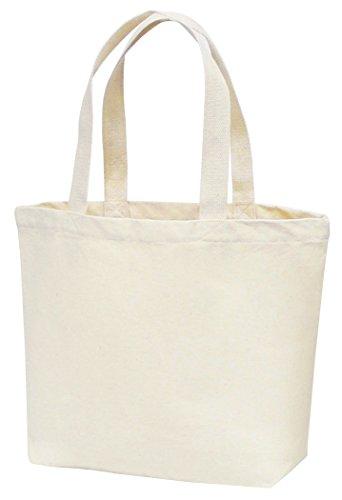 丸玉工業 トートバッグ 手提げ袋 厚手コットン Mサイズワイド ナチュラル