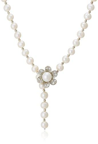 [ピュアパール] Pure Pearl 淡水パール Y字ネックレス ホワイト PP0882N-WH