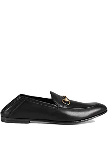 Gucci Luxury Fashion Uomo 407314DLC001000 Nero Pelle Mocassini | Stagione Permanente