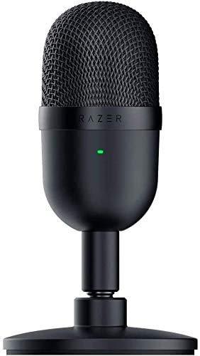 Razer Seiren Mini Micrófono compacto para USB para streaming,compacto con patrón polar supercardioide, soporte inclinable, amortiguador integrado, Negro