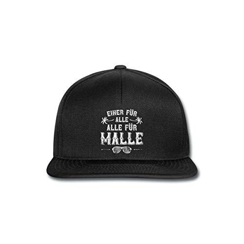 Spreadshirt Einer Für Alle Alle Für Malle Mallorca Snapback Cap, Schwarz/Schwarz