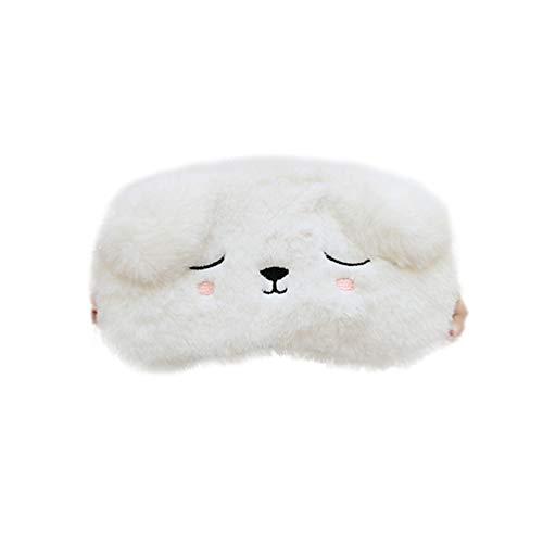Minkissy Schlafaugenmaske Tier Schlafmaske Weichen Plüsch Augenbinde Eyeshade Augenabdeckungen Augenmaske für Mädchen Frauen Kinder Gefallen