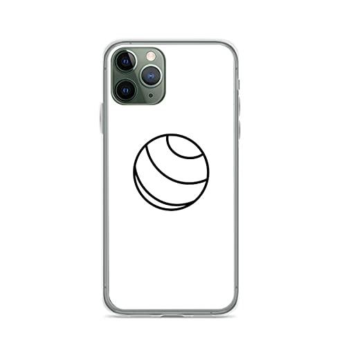 Compatible con iPhone 12/12 Pro MAX 12 Mini 11 Pro MAX SE X XS MAX XR 8 7 6 6s Plus Funda-Simple White Yoga Ball Exercise Fundas de teléfono Pure Clear Protección a Prueba de Golpes