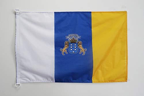 AZ FLAG Bandera de CANARIAS 90x60cm Uso Exterior - Bandera Canaria 60 x 90 cm Anillos