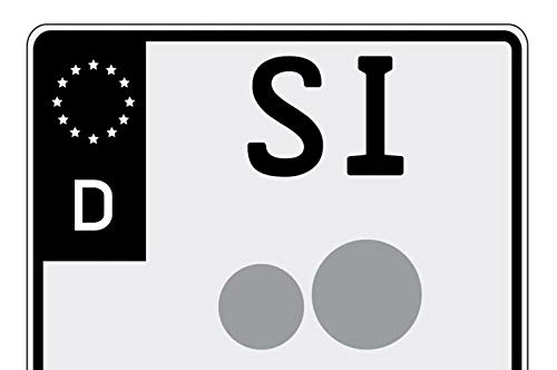 Ritter media design sticker motorfiets kenteken EU-veld in zwart wasstraatbestendig UV-bestendig