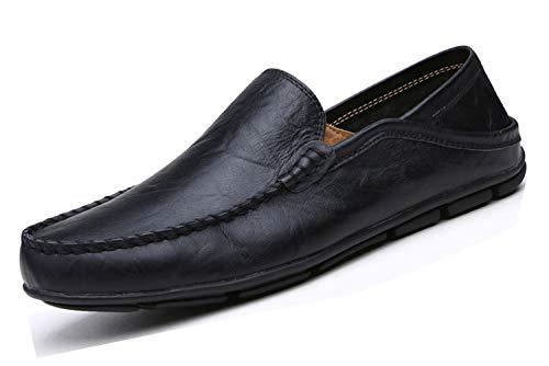 Zapatillas de Deporte para Hombre, Estilo Informal, Planas, de Lapens, Color Negro, Talla 44