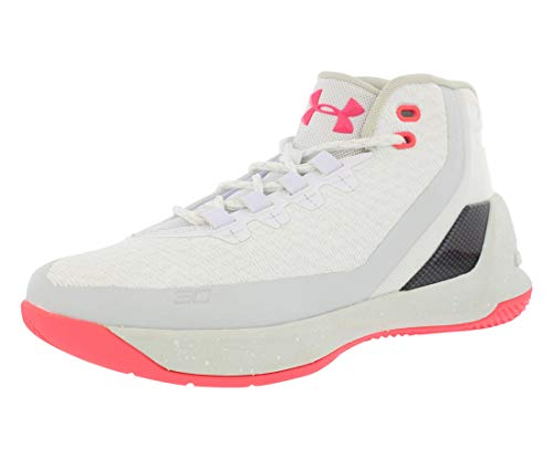 Under Armour Curry 3 Grade School Boys Shoes Size 6 White/Silver/Pink