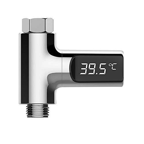 Wilk Monitor del Metro de medición de Temperatura verdadera Herramienta de visualización de Temperatura del Agua de la Ducha Termómetro de Flujo Autogenerada Luz Agua