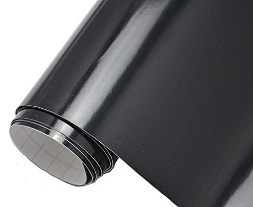 Neoxxim 4,60€/m2 Premium Auto Folie - GLÄNZEND SCHWARZ Glanz 100 x 150 cm - blasenfrei mit Luftkanälen ca. 0,15mm dick Folierung folieren bekleben