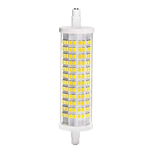 R7S LED Birne, Vaxiuja r7s led dimmbar 118mm18W Entspricht R7S 240W Halogenlampe 2400Lm 3000K 230V Dimmbar 118mm R7s LED Strahler Fluter [Energieklasse A+] (Kühles Weiß)