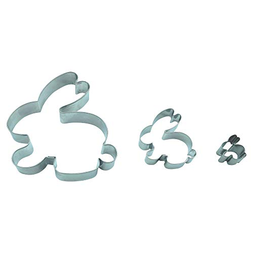 Krifka Formina Hase 3er Set Ostern /9,5 cm/ 5,5 cm/ 2,3 cm/Ausstecher, Ausstechform aus Edelstahl