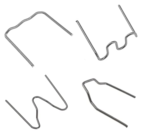 Soldadores de plástico de plástico de acero inoxidable precalimado Soldadores de reparación para parachoques de automóvil 0.6mm Esquina exterior Grapas de esquina de 0.8mm / Onda / Set de grapas plana