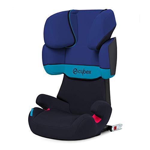 Cybex Silver Solution X-Fix, Seggiolino Auto per Bambini, Gruppo 2/3/15-36 kg, da 3 fino a 12 Anni Circa, per Auto Con e Senza ISOFIX, Blu/Navy Blue/Blue Moon