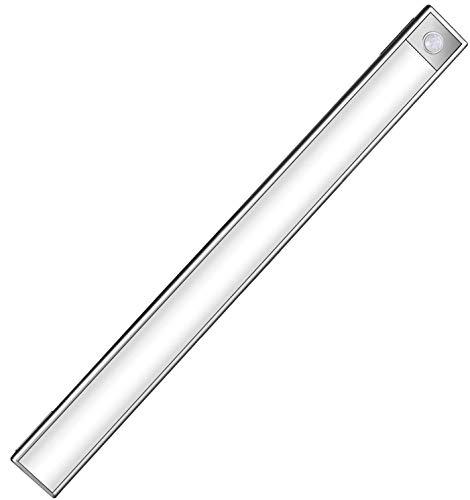 センサーライト 室内 人感センサー 70LED ワイヤレス 充電式 夜間ライト キッチンライト 階段ライト 足元灯 節電対策 高感度 長寿命 170ルーメン マグネット付き 40.5cm 小型 玄関/寝室/押し入れ/廊下に最適 GUFAN
