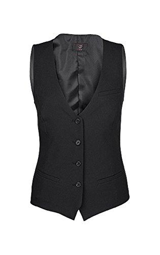 Greiff Damenweste Regular Fit 4 Knöpfe 4 Taschen Voll Gefüttert schwarz, Größe: 46