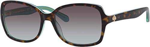 Ayleen/S-0VPU/5M 56MM Havana Green/Gray Gradient Aqua Square Sunglasses for Women + FREE Complimentary Eyewear Kit