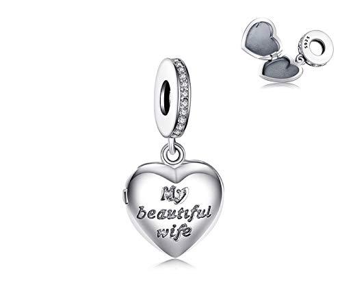 EVESCITY - Colgante de plata de ley 925 con muchos estilos para pulseras y collares similares Pandora