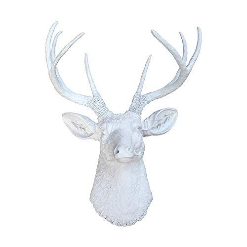 Gymqian Escudo Ganchos Faux Astas de Los Ciervos de Cabezal Único Ganchos de Pared Animal Colgar de la Pared en Forma de Sombrero Montada Escudo Ganchos Estante de la Suspensión Hecha a
