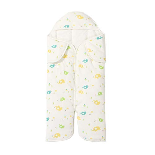 HUACANG HUACANG Warmer Schlafanzug Für Baby-Anti-Kick-Schlafsack Hut Schulter Design Cartoon Muster Baumwollstoff Schlafzimmer Kinderwagen