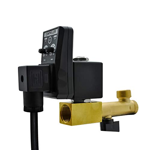 """Automatic Timed Water Tank, Briidea Electronic Air Tank Water 2-way Direct-acting Moisture Drain Valve 1/2"""" AC 110V for Air Compression"""