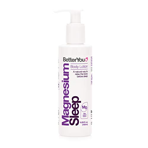 BetterYou Magnesium Sleep Lotion | Transdermal Magnesium Sleep Lotion Infused with Lavender & Chamomile to Support Sleep | Natural Sleep Aid | Better Sleep, Naturally | 6 fl oz