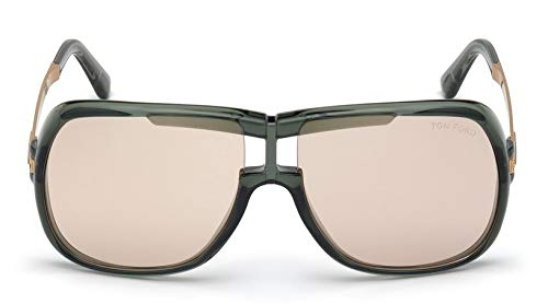 Tom Ford Sonnenbrille Caine (FT0800) Grün Hell Glanz 62