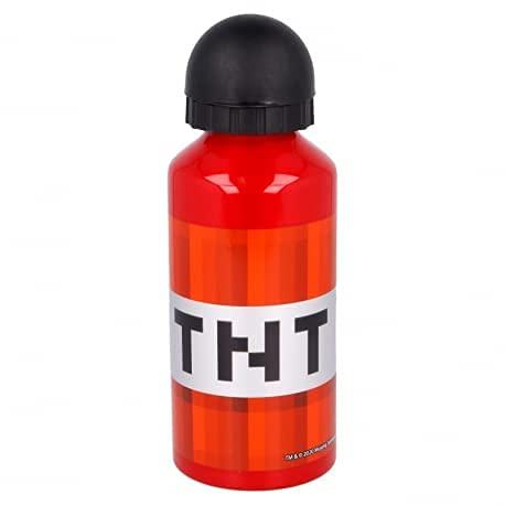Borraccia termica Bottiglia in Alluminio per Bambini 400ml con beccuccio retraibile (Minecraft TNT)