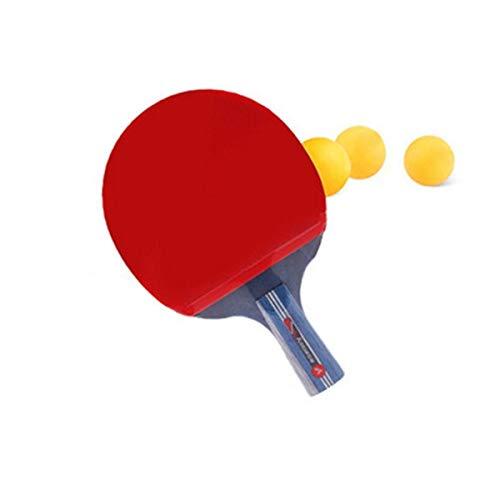 NO LOGO SSGFZ Racchetta da Ping-Pong, Adatta for Sport all'Aria Aperta e Racchette da Fitness, Pallini in Carbonio a Manico Lungo, Confezione da 1 (3 Palline) (Edition : Short Handle)