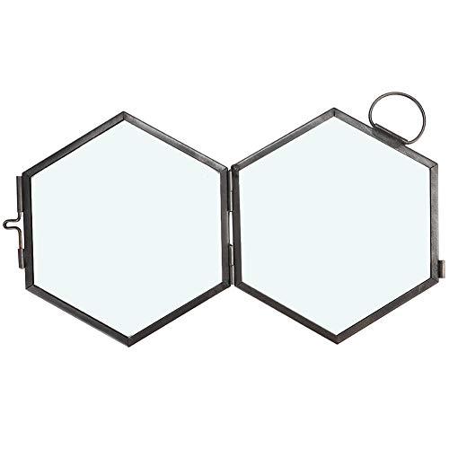 BOTEGRA Marco de Fotos de Vidrio, Clip de Muestra Negro de Vidrio Grueso Resistente para Dormitorio para Sala de Estar
