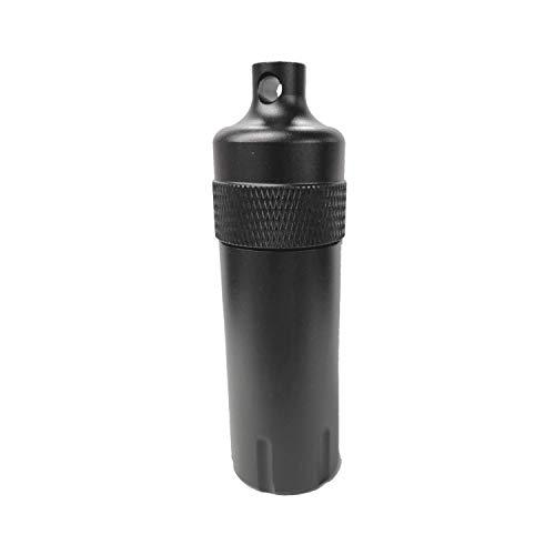 お値打ち工房 携帯灰皿 シリンダー 筒型 金属製 大容量 ブラック