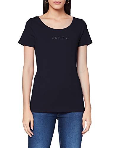 Esprit 990EE1K306 T-Shirt, 400/bleu Marine, L Femme