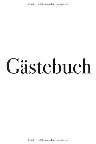 Gästebuch - schlichtes Gästebuch, 120 Seiten, kariert, 6x9, Notizbuch, Notizheft, für...