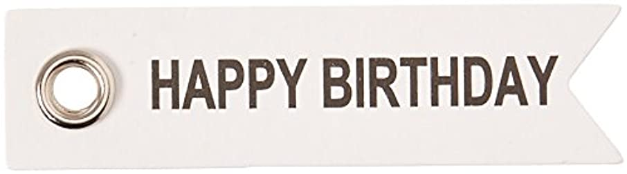 Darice Happy Birthday Eyelet Label Tags, 10 Piece
