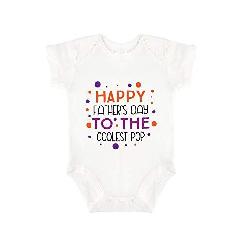 Promini Lindo bebé mono feliz día del padre a la más fresca pop bebé mono bebé una pieza mameluco mejor regalo para bebé