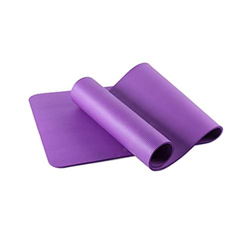 ZZRTEC Esterilla Deporte Antideslizante,TPE Esterilla De Yoga Y Alfombra Fitness, Adecuada para AeróBic Pilates Gimnasia Y Yoga(183 × 61 × 1,0 Cm) Purple