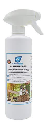 KaiserRein Harz-Entferner/Baumharz-Entferner für 0,5 L Spray Reiniger für Kettensägenreiniger, Motorsägenreiniger, Heckenschere Reinigung
