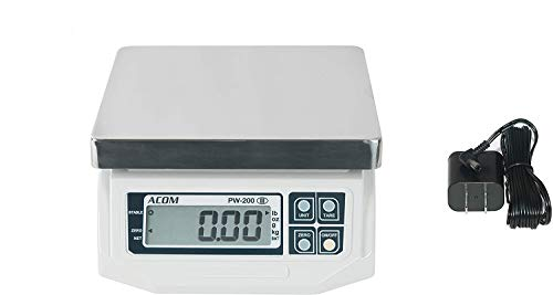 VisionTechShop ACOM APW-200 Digital Portion Control Scale, Lb/Oz/Kg/g Switchable, Low Profile Design, 60lb Capacity, 0.02lb Readability, Single Display, NTEP Legal for Trade
