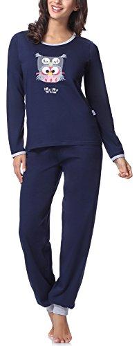 Merry Style Damen Schlafanzug 980 (Navy, 38 (Herstellergröße: M))