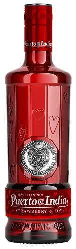 Edición Día de la Madre - Gin Puerto de Indias Strawberry 70cl - Ginebra rosa de fresas naturales