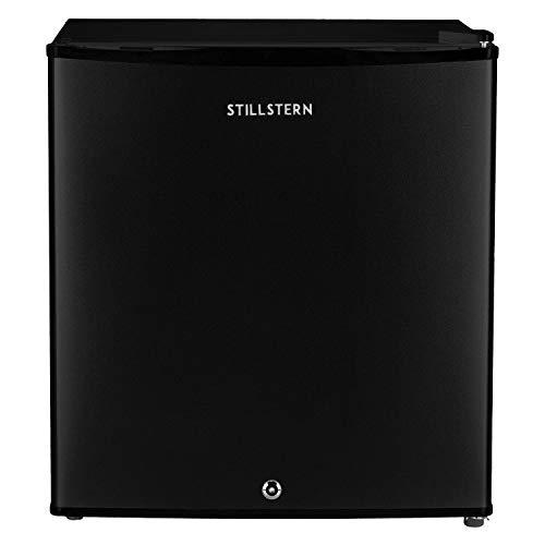 Stillstern Mini-Kühlschrank E (45L) mit Abtauautomatik, Schloss und Frostfach, Leise, Ideal für Küche, Büro, Schlafzimmer, Hotels und kleine Wohnungen