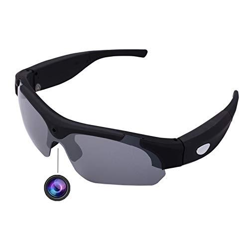 Bluetooth Earphone 1080p Hd Wasserbeständigkeit Video Sonnenbrille Mini Camcorder Brille Polarisierte Sport Video Sonnenbrille 16 GB Outdoor Sport Action Kamera Unisex Sport Design (Color : Black)