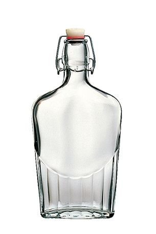 Bottiglia Vintage Bormioli Fiaschetta 25 cl (1/4 lt) Elegante con Tappo Meccanico (Colori Assortiti) per Acqua Bevande Preparazione e conserva Cocktail