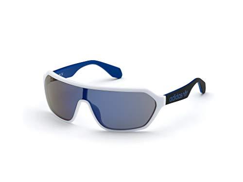 adidas OR0022 Gafas, White/BLU Mirror, 00 Unisex Adulto