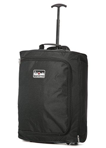 5Cities Trolley Handgepäck, 55cm, 42Liter, schwarz