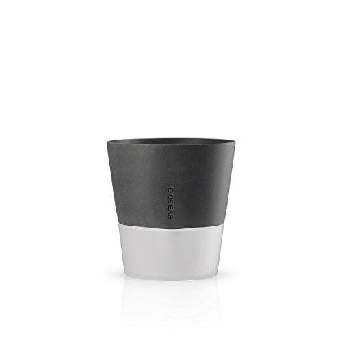 Eva Solo 568116 Bloempot, zelf water geef syteem, Mat glas, nylon koord, polystone, Steen grijs, ø20 cm