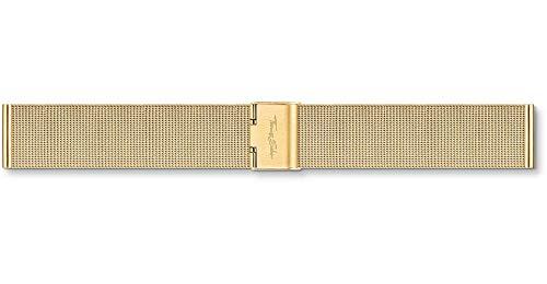 Thomas Sabo Correa de reloj de acero inoxidable dorado con cierre deslizante, ZWA0301-225-39-20 mm