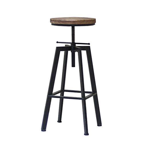 Da Dini Taburetes de bar estilo vintage Taburetes de diseño de altura ajustable para cocina islas
